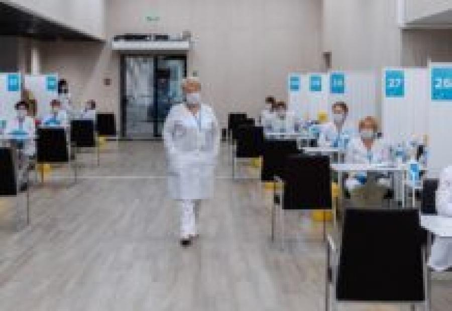 Новый центр вакцинации в «Лужниках» сможет принимать до 15 тысяч человек в день